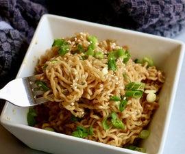 Sesame Garlic Ginger Ramen Noodles Recipe