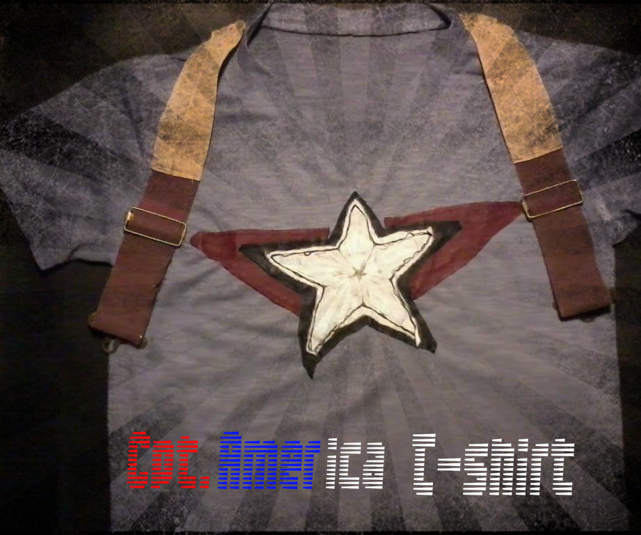 Cpt. America Inspired T-Shirt (from Old shirts & lether garments))