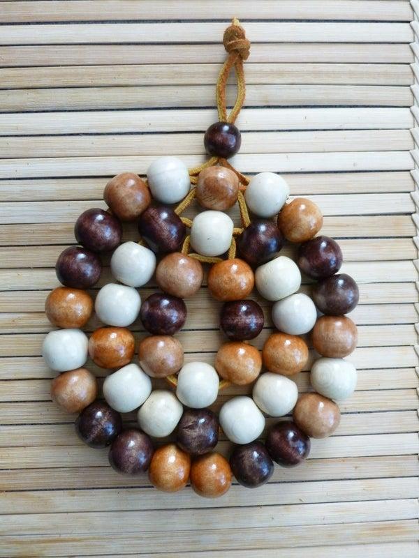 Wood Bead Trivet