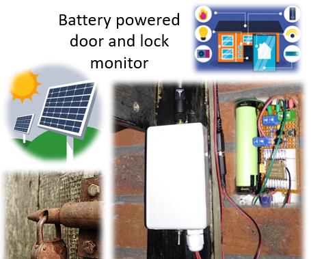 Battery Powered Shed Door & Lock Sensor, Solar, ESP8266, ESP-Now, MQTT