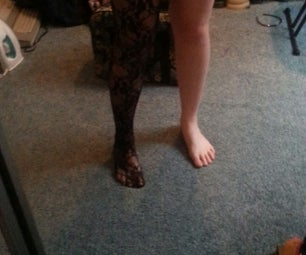 How to Turn Tights Into Stockings