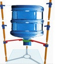 3D Printable Hydroponics Tower Support Structure