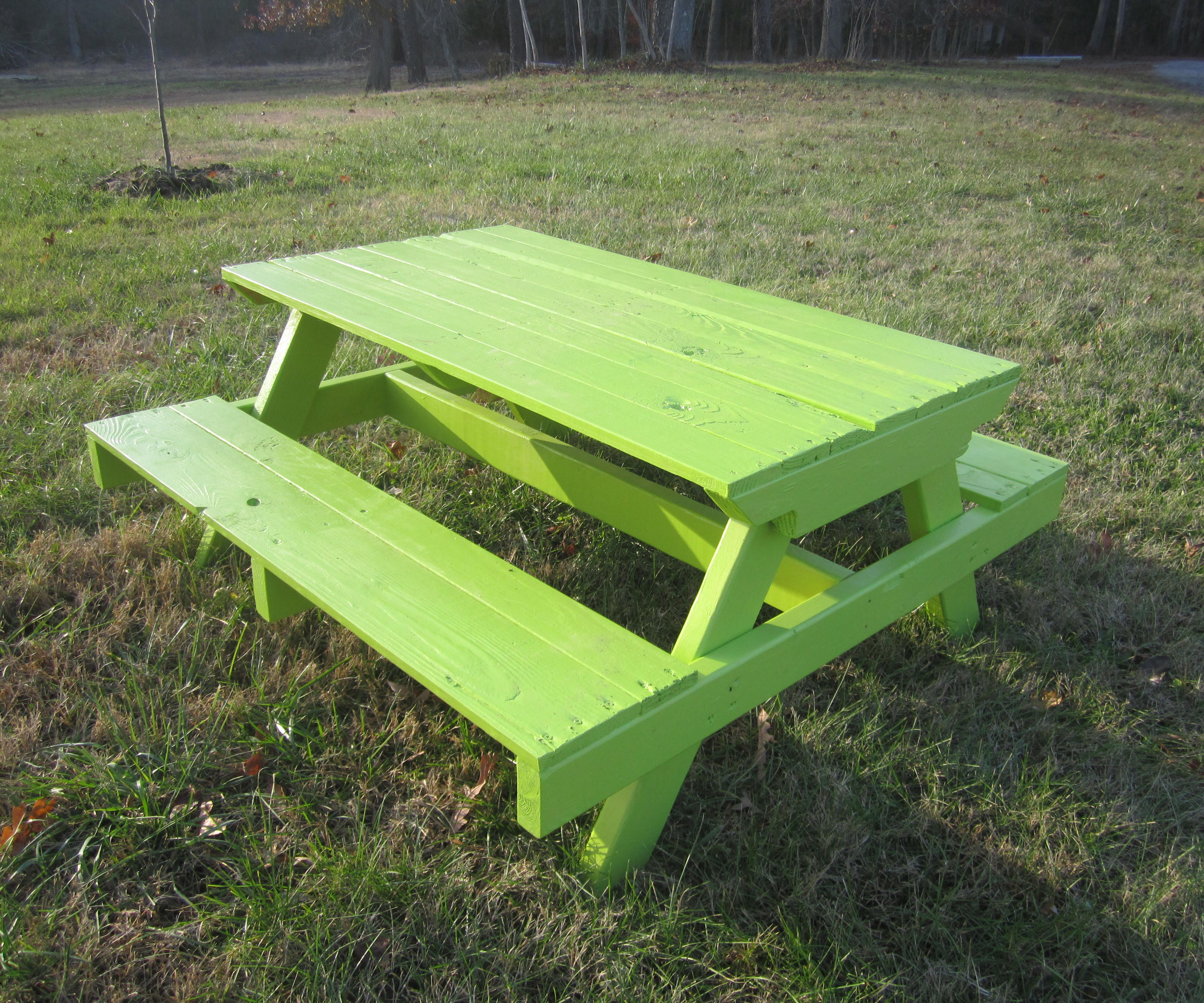 Picture of: Kid S Pallet Picnic Table 7 Steps With Pictures Instructables
