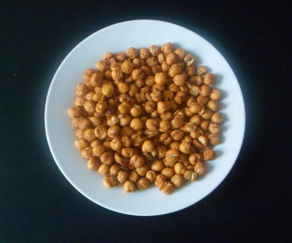 Spicy and Crunchy Baked Chick Peas