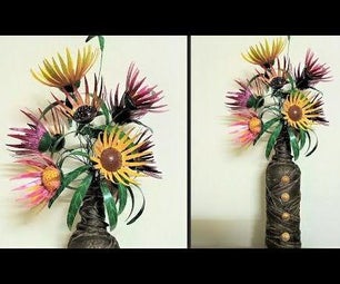 如何从塑料瓶制作花| DIY Flower | Easy Art&Craft教程