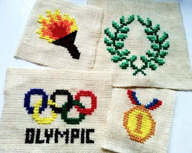 Olympic Inspired Cross-Stitches