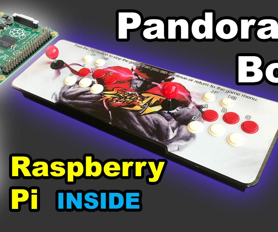 Raspberry Pi Inside Pandora's Box Arcade System