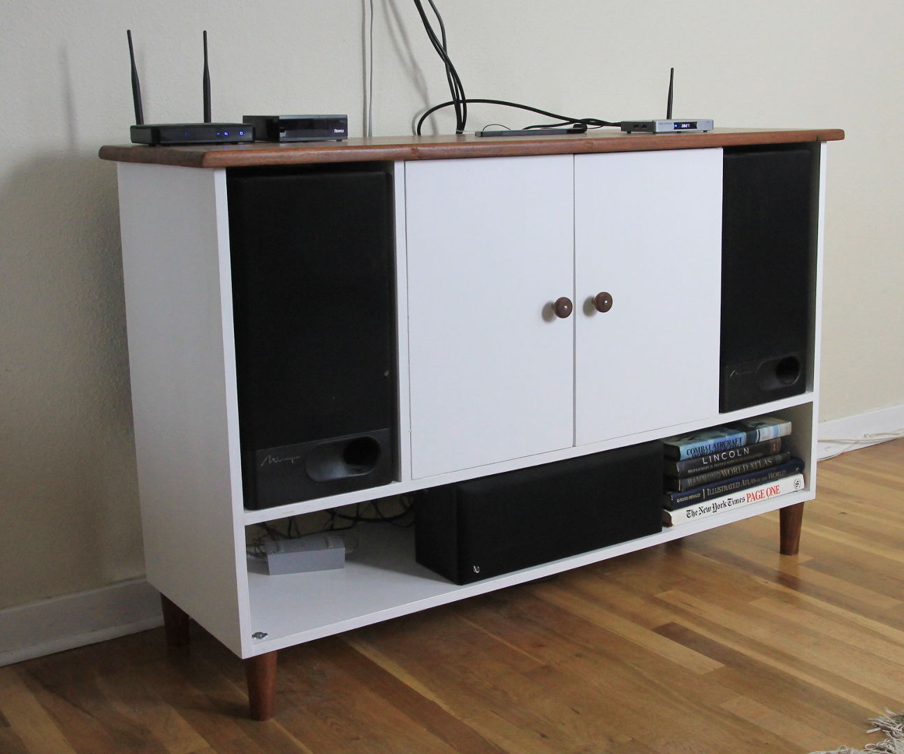 Building a Hardwood Counter and a Media Stand