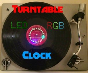 Turntable LED RGB Clock
