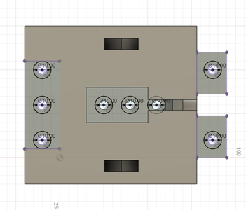 Design Process - Stationary Fixture - Mounting Holes Extra Height