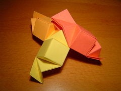 In Order to Complete the Vertex (i.e. Close It by Attaching the First Module Back to the Third), You Will Have to Partially Unfold the Modules Forming the Third Edge (orange in the Picture).