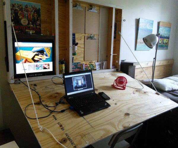 Hideaway Drafting Table