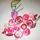 3D Quilled Doll Card