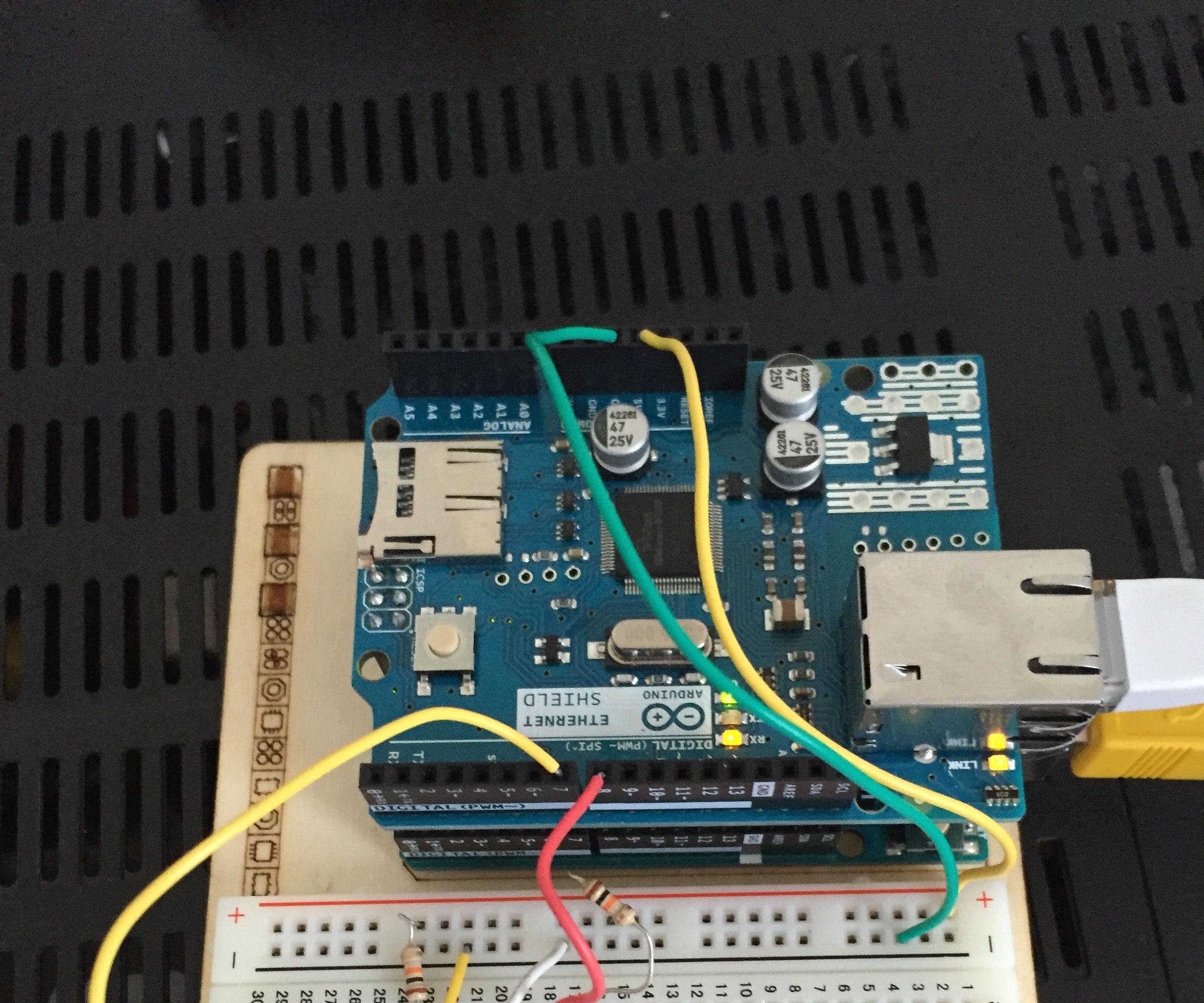 twitter arduino security system