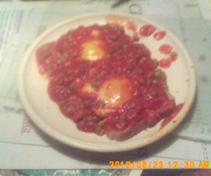 Eggs in Purgatory on Toast.