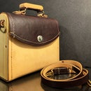 Leather Bag With Wooden Sides 💼