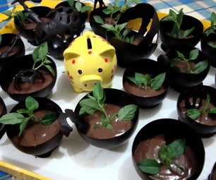 Basil Choco Mousse in Chocolate Cups :P