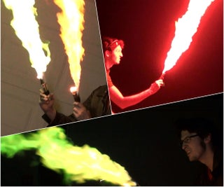 Pocket-sized Multicolored Flamethrowers and Sorcerer Staff