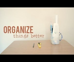 Organizer From a Milk Bottle