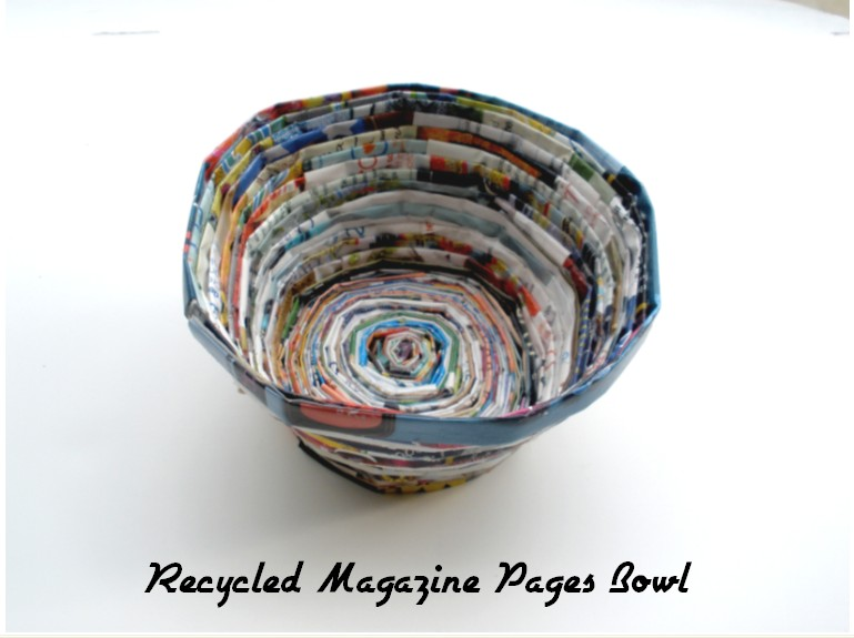 Recycled Magazine Pages Bowl