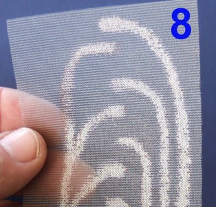 Etch the Conductive Fabric