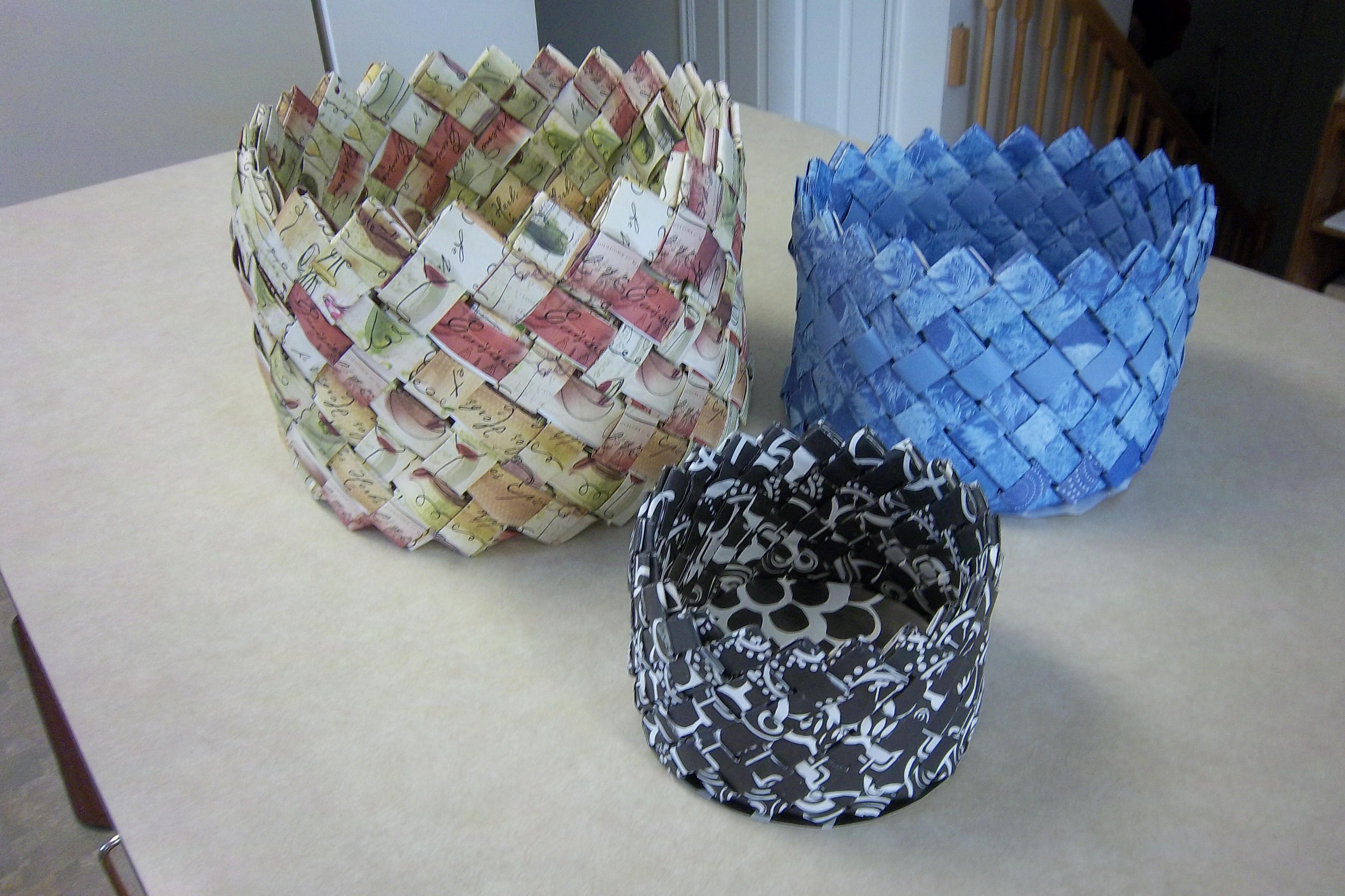 Woven Paper Basket