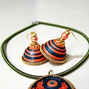 Paper Quilling Earring Necklace Set