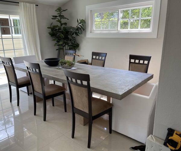 "Geometric Dining Table Build ""Concrete"""