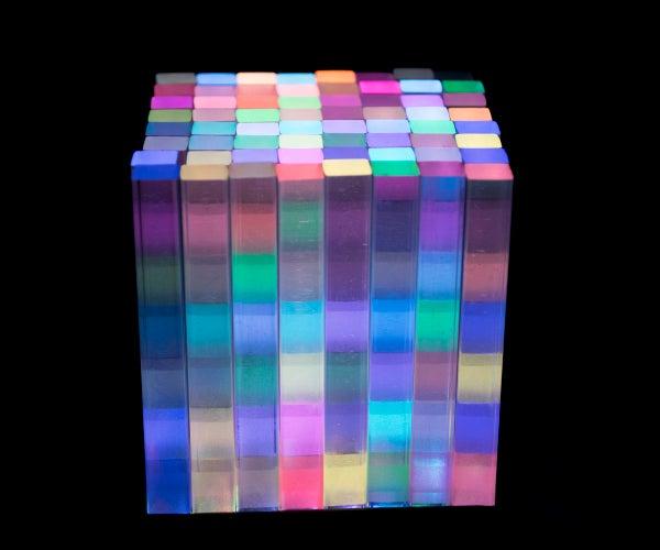2.5D Edge Lighting Pixel LED Cube