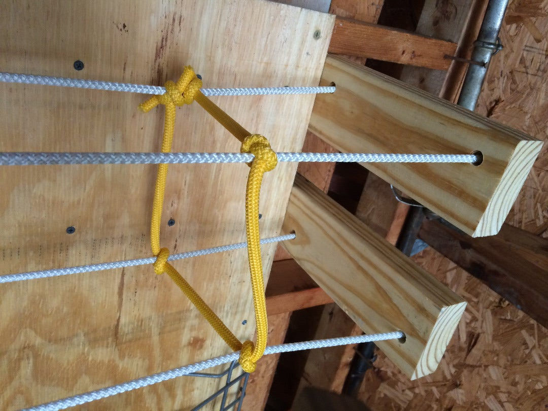 Cut the Wood and Hang the Top Braces.