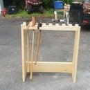 Plumb Style Axe Rack