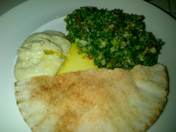 Tabule Arabic Salad and Hummus