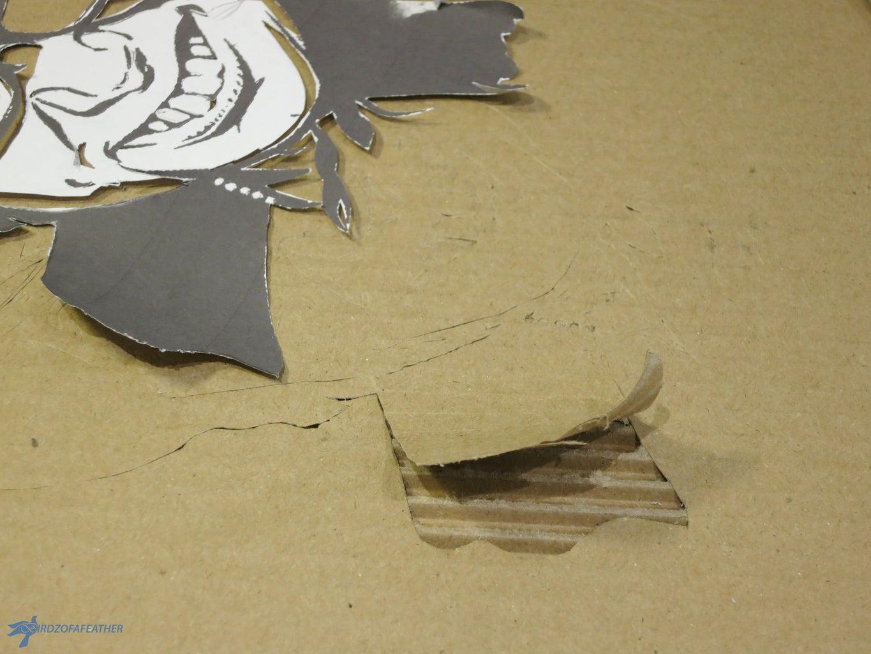 Remove Top Layer of Cardboard