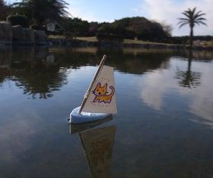 How to Make Micro Sail Boat.