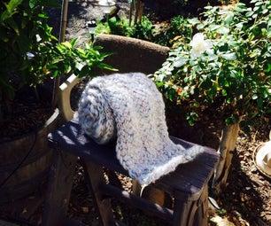 Chunky Cross-Stitch Knit Scarf