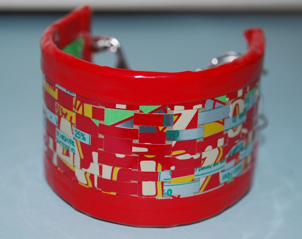 Recycled Can Woven Cuff Bracelet