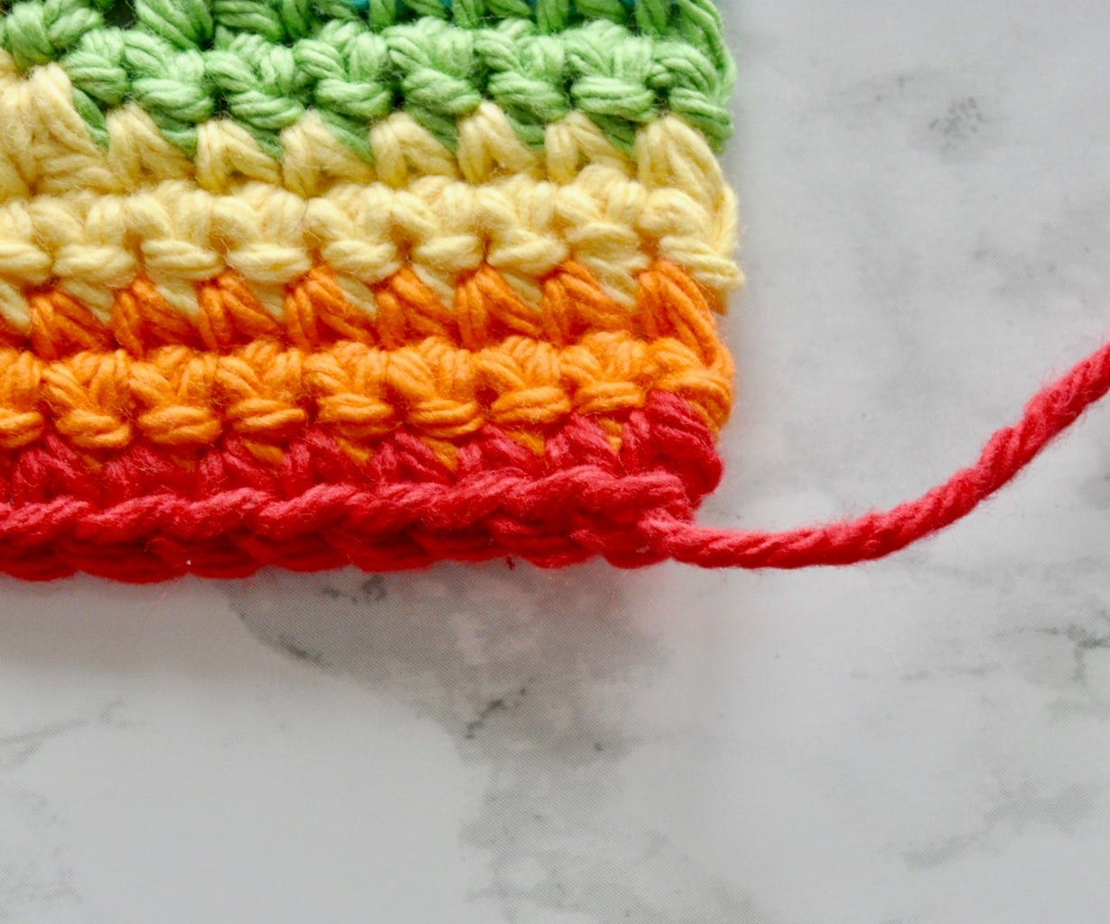 Crocheting Your Mitered Square