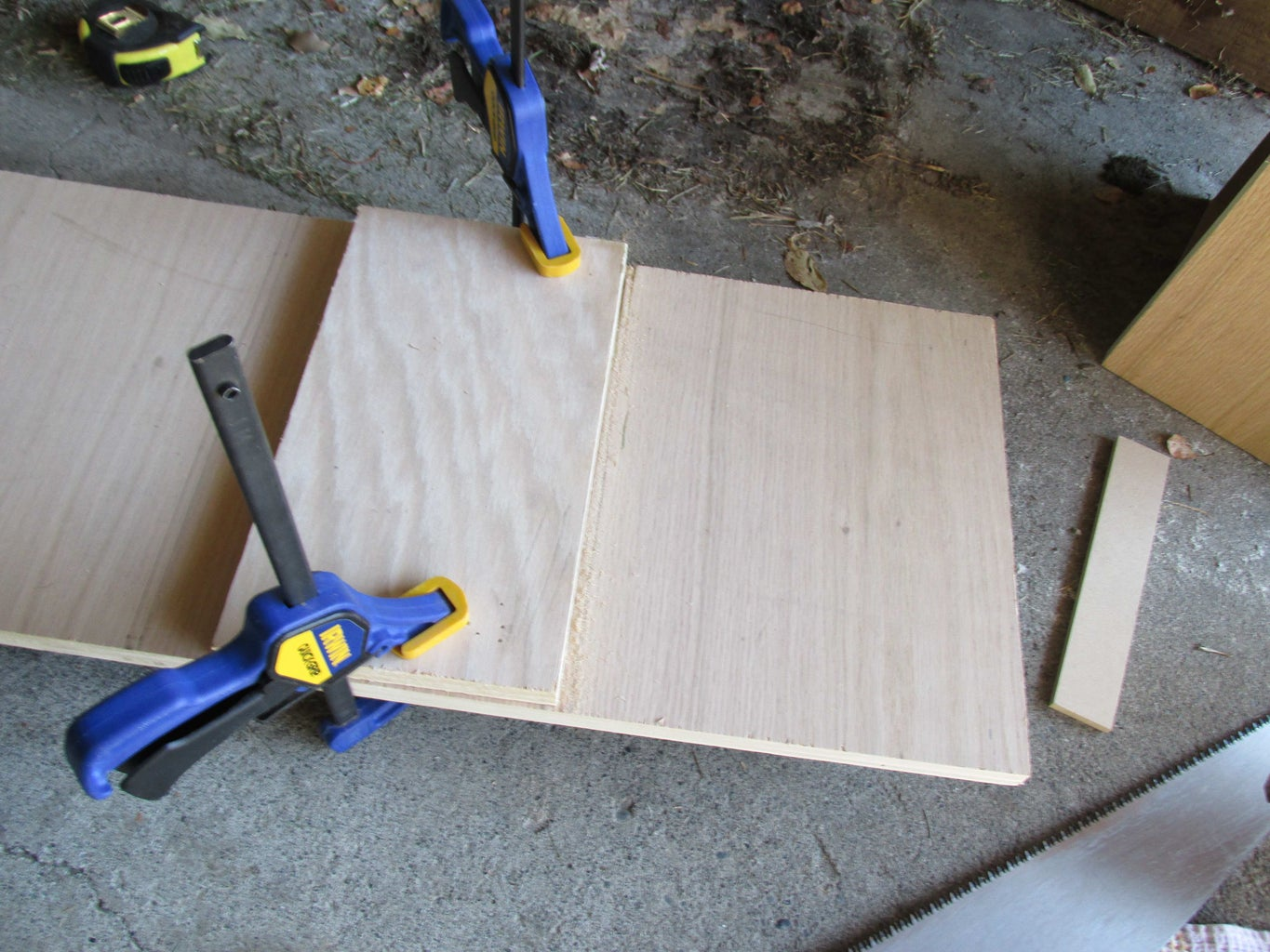 Chisel Grooves for Drawers