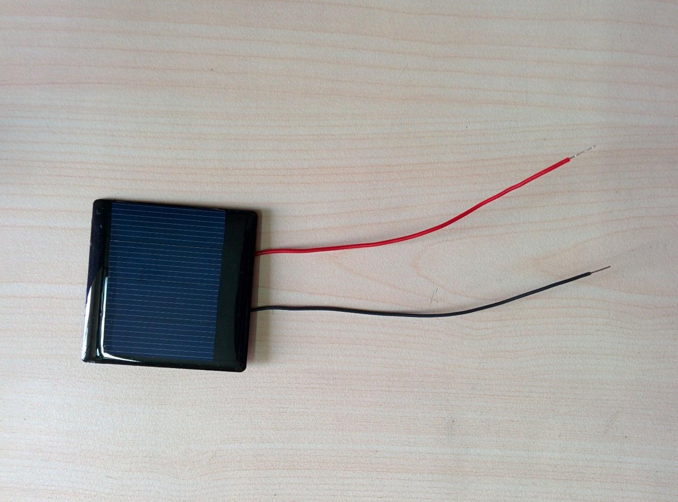 Solder the Solar Panel Terminals