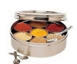 Indian Masala Dabba, Spice Tiffin, Spice Box