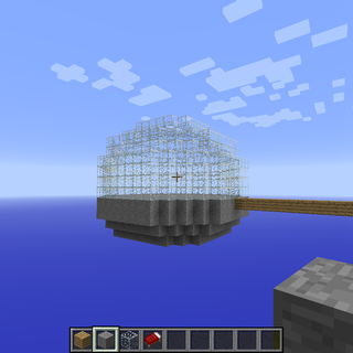 How to Make a Glass Dome on Minecraft