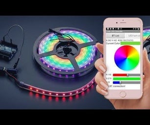 Android Controlled RGB LED Strip Using Arduino