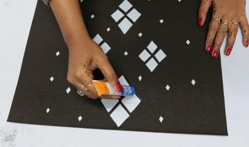 Glue the OHP Sheet