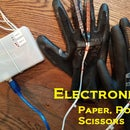 Electronic Paper Rock Scissors Game