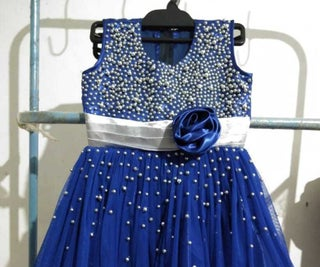 Party Frock With Bead Work