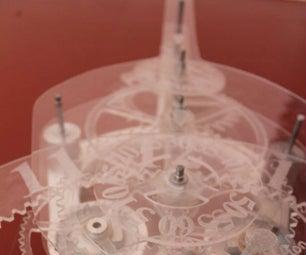 Acrylic Skeleton Clock