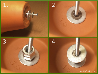 Assembling Pot Bolt and Spacers