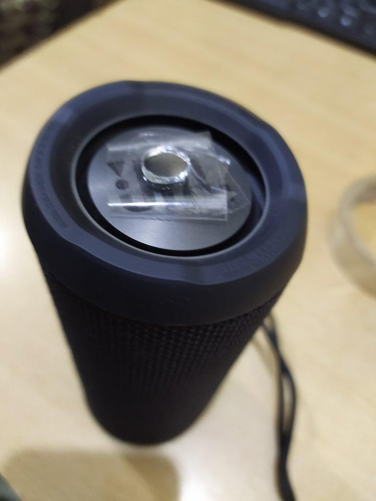 Attach Mirror to Speaker's Diaphragm
