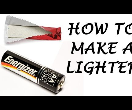Make a Lighter Out of Battery and Gum Wrapper