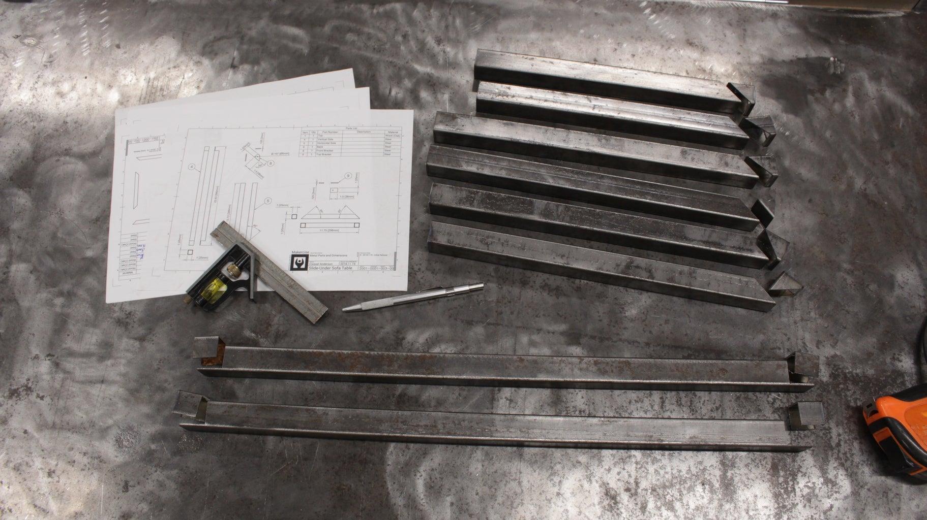 Cut Metal Pieces